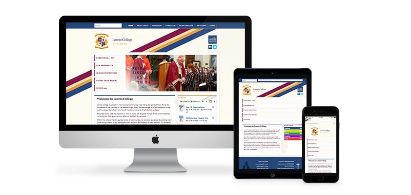 A Brilliant Website Design for Loreto College in Hertfordshire by Webster Internet