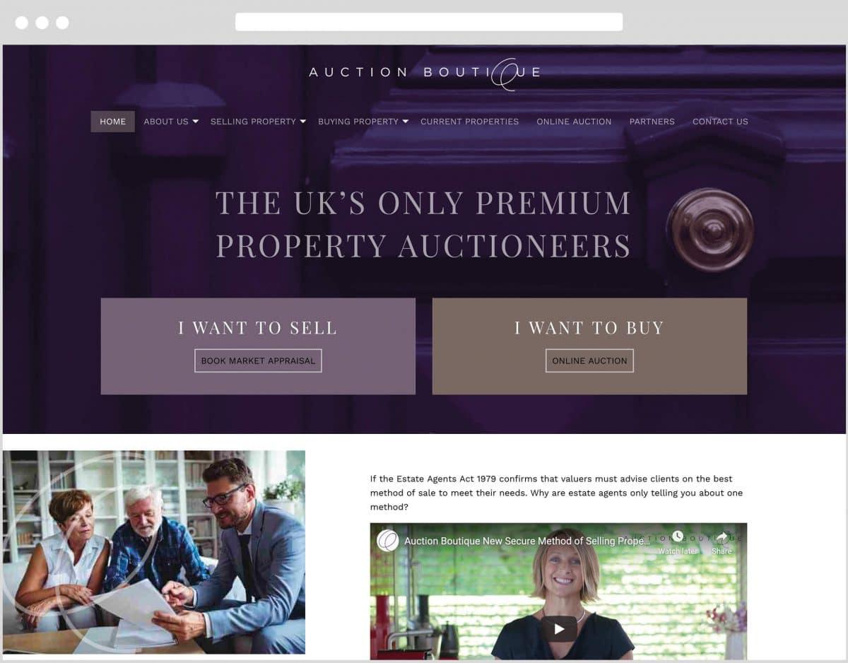 Web Design Bedfordshire - Auction Boutique Website Build