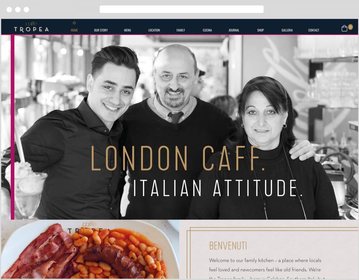 Web Design Bedfordshire - Caffe Tropea Website Build