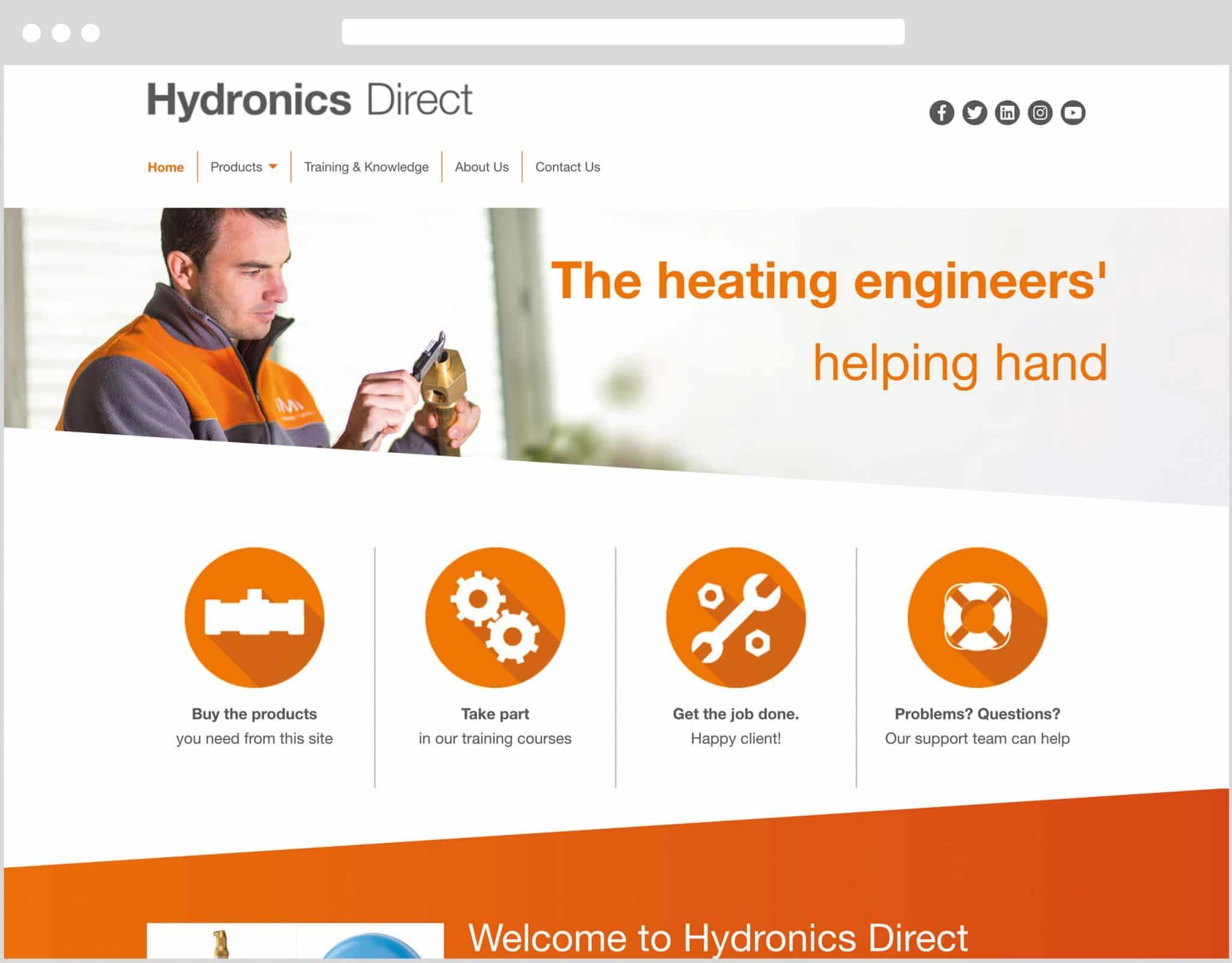 Web Design Bedfordshire - Hydronics Direct Website Build