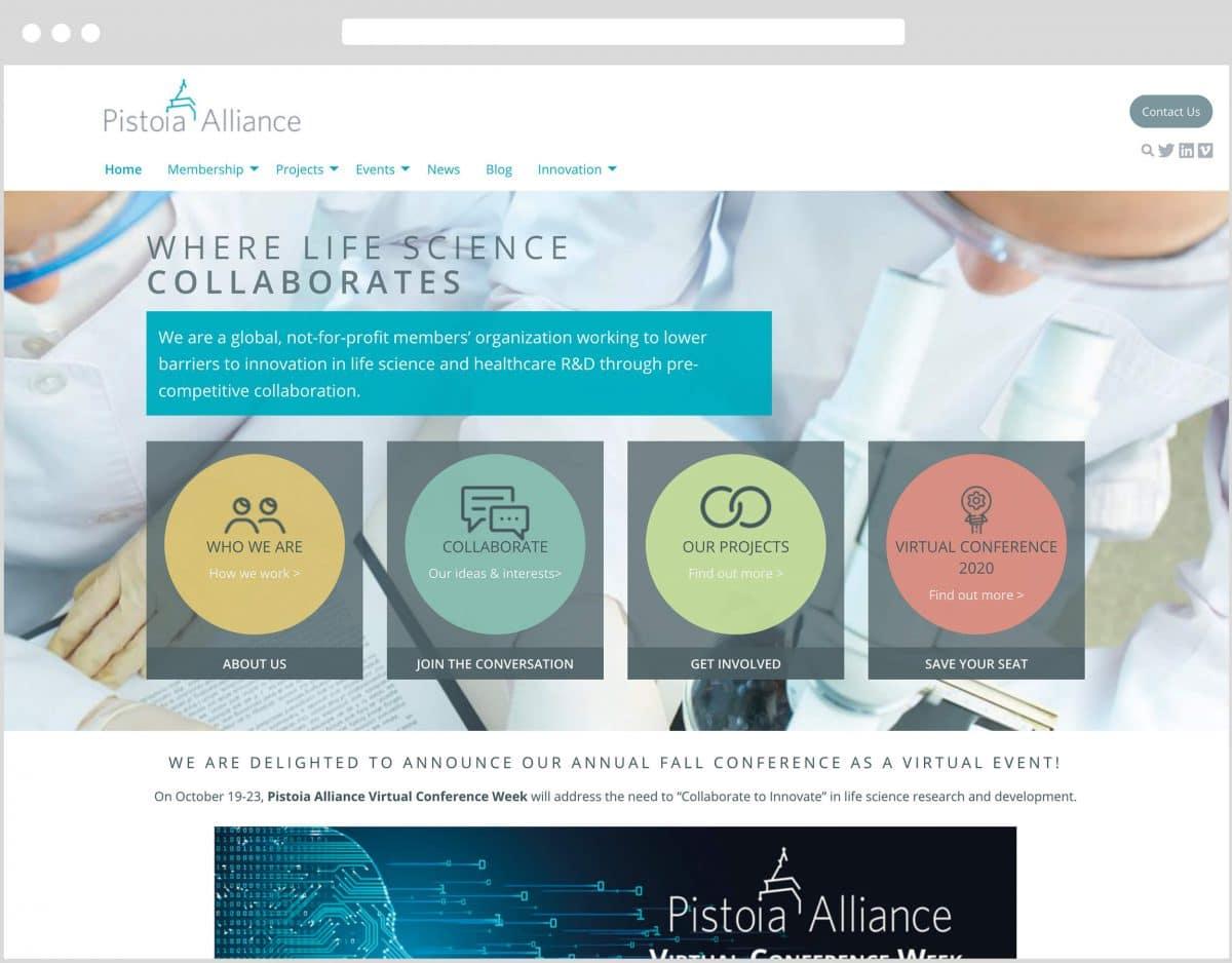 Web Design Bedfordshire - Pistoia Alliance Website Build