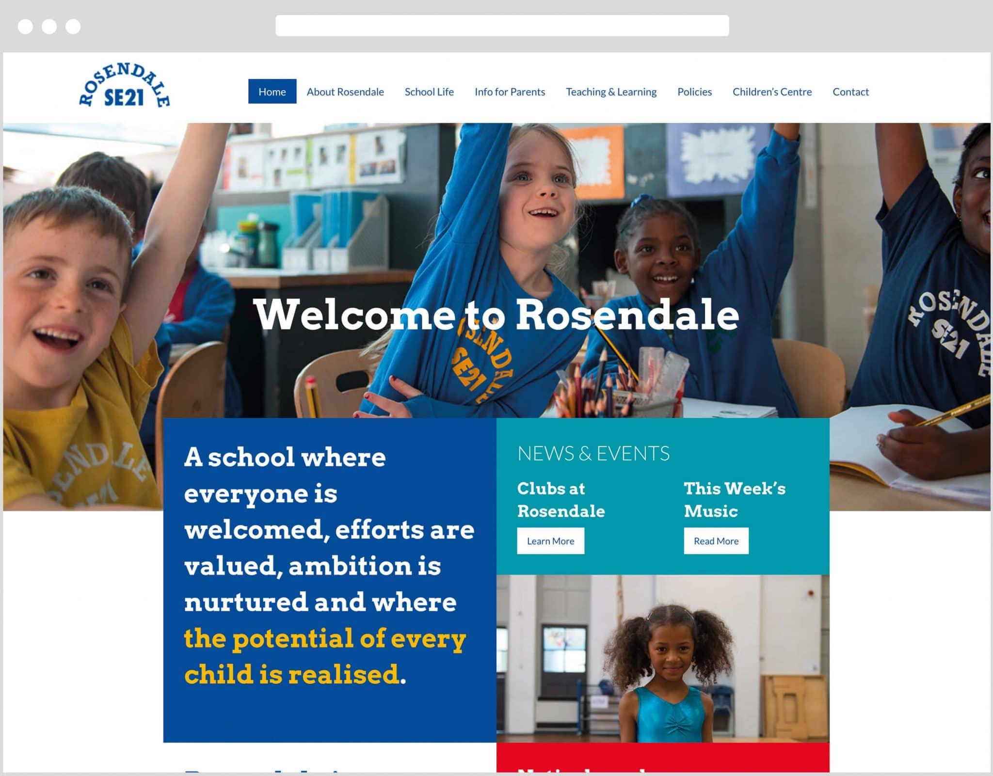 Web Design Bedfordshire - Rosendale Primary School Website Build