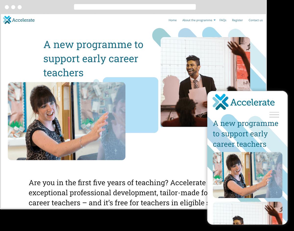 accelerate learning website by webster digital - web design bedfordshire