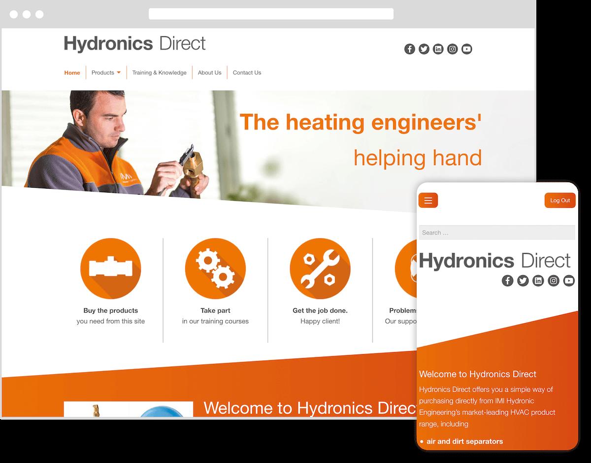 hydronics direct website by webster digital - web design bedfordshire