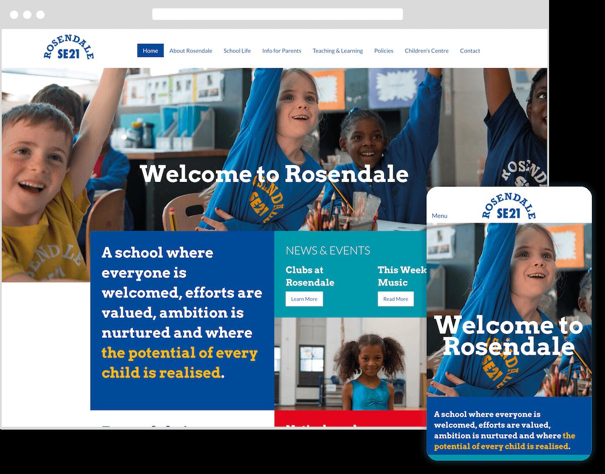rosendale primary school website by webster digital - web design bedfordshire